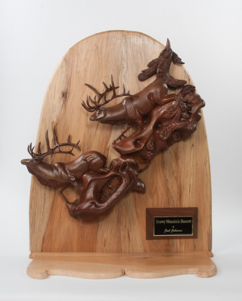 Bull Elk by J. Johnson